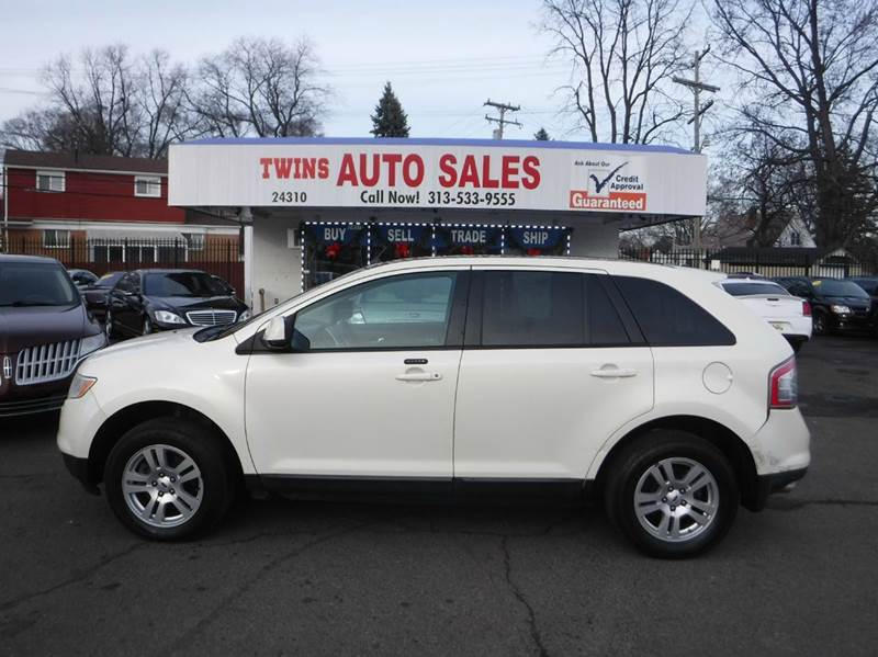 2008 FORD EDGE SEL AWD 4DR SUV white 2008 ford edge sel super cleanmust seewe finance v6