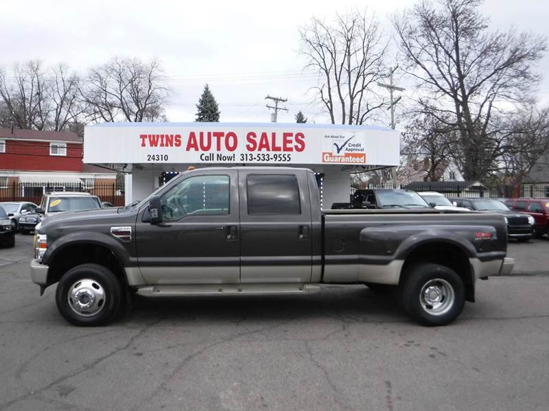 2009 FORD F-350 SUPER DUTY KING RANCH 4X4 4DR CREW CAB 8 FT gray 2009 ford f350 super duty king ra