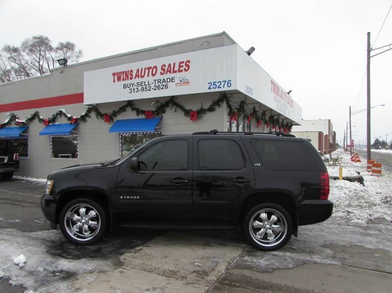 2007 CHEVROLET TAHOE LTZ 4DR SUV 4WD black 2007 chevrolet tahoe ltz super cleanmust seewe fi