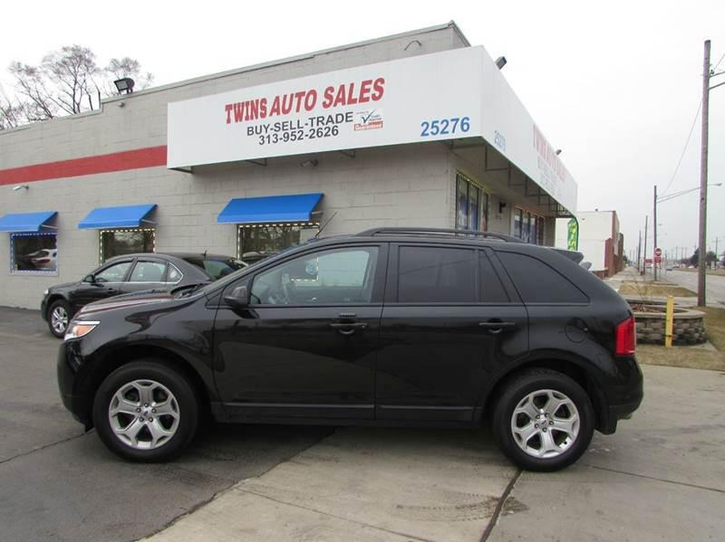 2013 FORD EDGE SEL 4DR SUV black 2013 ford edge sel super cleanmust seewe finance v6 auto