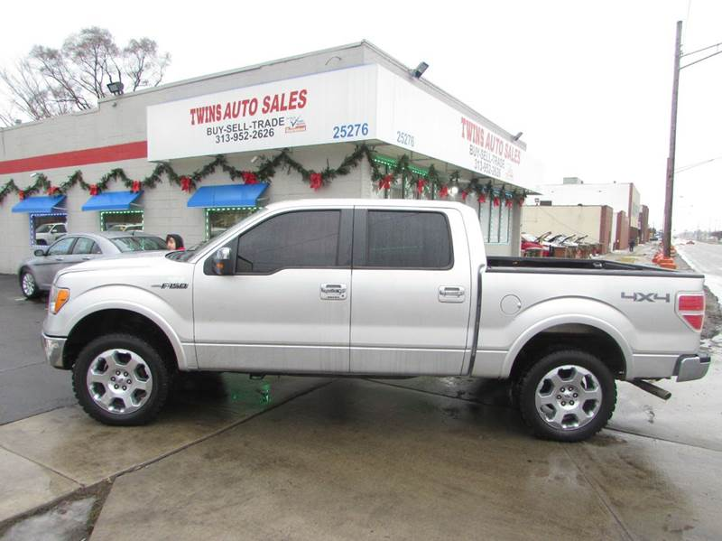 2010 FORD F-150 LARIAT 4X4 4DR SUPERCREW STYLESI silver 2010 ford f150 lariat supercrewvery clea