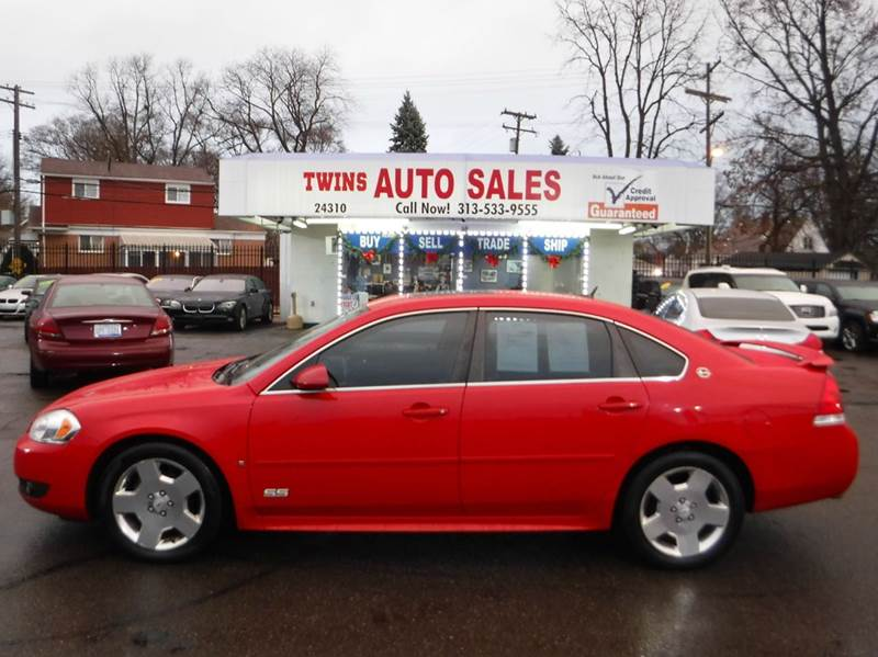 2009 CHEVROLET IMPALA SS 4DR SEDAN red 2009 chevrolet impala ss super cleanmust seewe financ