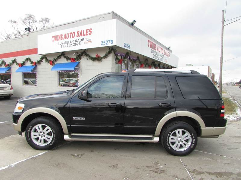 2007 ford explorer eddie bauer 4dr suv 4wd v6 in detroit mi twins auto sales inc. Black Bedroom Furniture Sets. Home Design Ideas