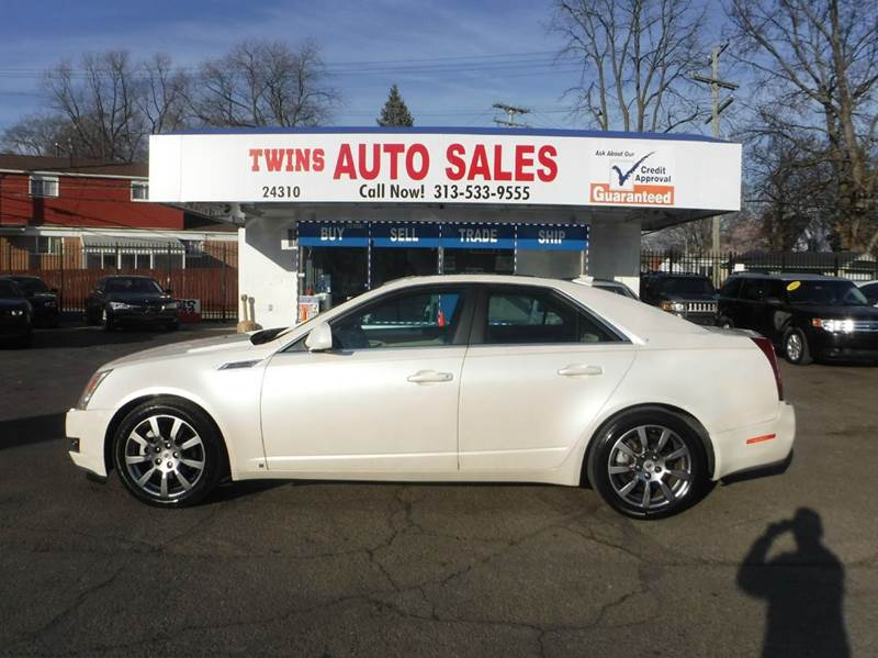 2009 CADILLAC CTS 36L DI AWD 4DR SEDAN W 1SB W white 2009 cadillac cts super cleanmust see