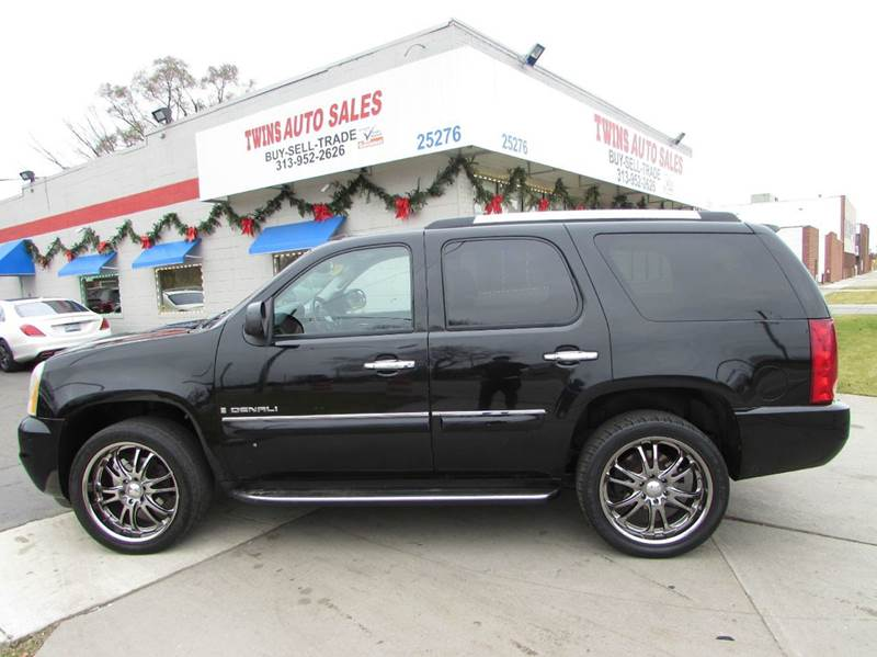 2008 GMC YUKON DENALI AWD 4DR SUV black 2008 gmc yukon denali super cleanmust seewe finance