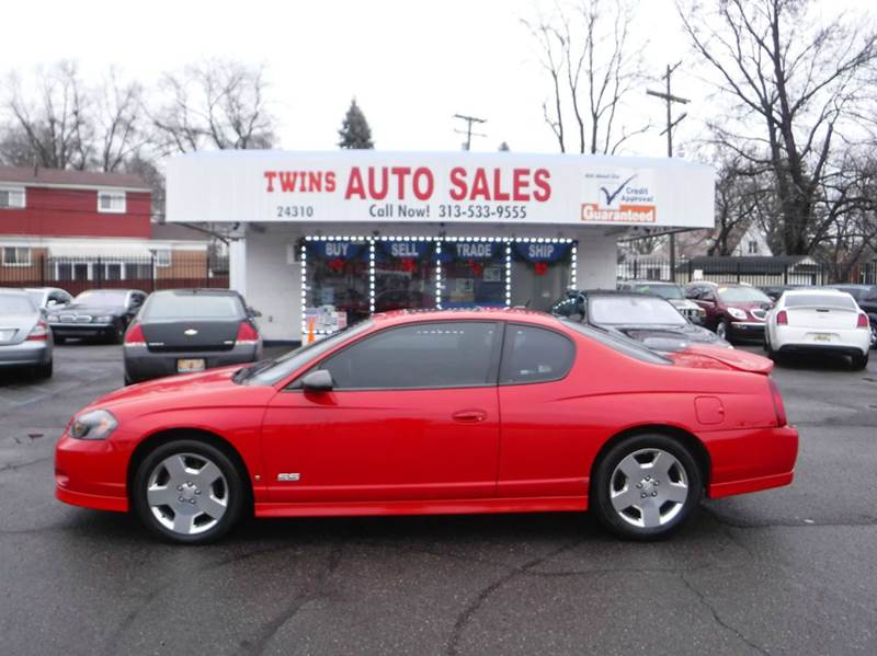 2006 CHEVROLET MONTE CARLO SS 2DR COUPE red 2006 chevrolet monte carlo ss like newmust seef