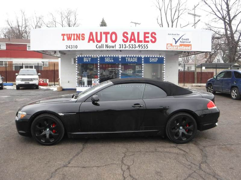 2007 BMW 6 SERIES 650I 2DR CONVERTIBLE black 2007 bmw 650i convertible super cleanmust seewe