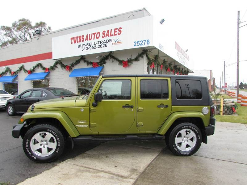 2007 JEEP WRANGLER UNLIMITED SAHARA 4X4 4DR SUV green 2007 jeep wrangler unlimited saharasuper