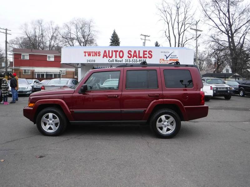 2008 JEEP COMMANDER SPORT 4X4 4DR SUV red 2008 jeep commander sport super cleanmust seewe f
