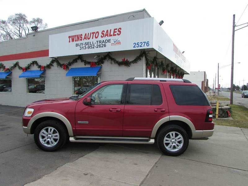 2006 FORD EXPLORER EDDIE BAUER 4DR SUV 4WD WV6 red 2006 ford explorer eddie bauer super clean