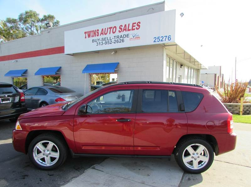 2007 JEEP COMPASS SPORT 4DR SUV red 2007 jeep compass sport super cleanmust seewe finance