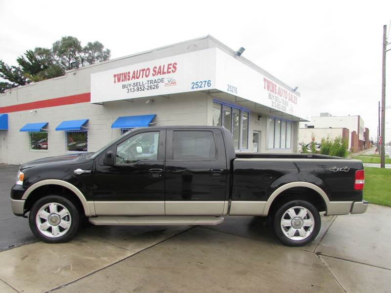 2008 FORD F-150 KING RANCH 4X4 4DR SUPERCREW STY black 2008 ford f150 king ranch super cleanm