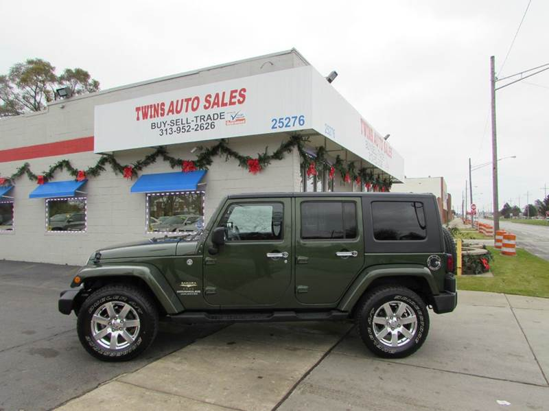 2008 JEEP WRANGLER UNLIMITED SAHARA 4X4 4DR SUV dk green 2008 jeep wrangler unlimited saharasup