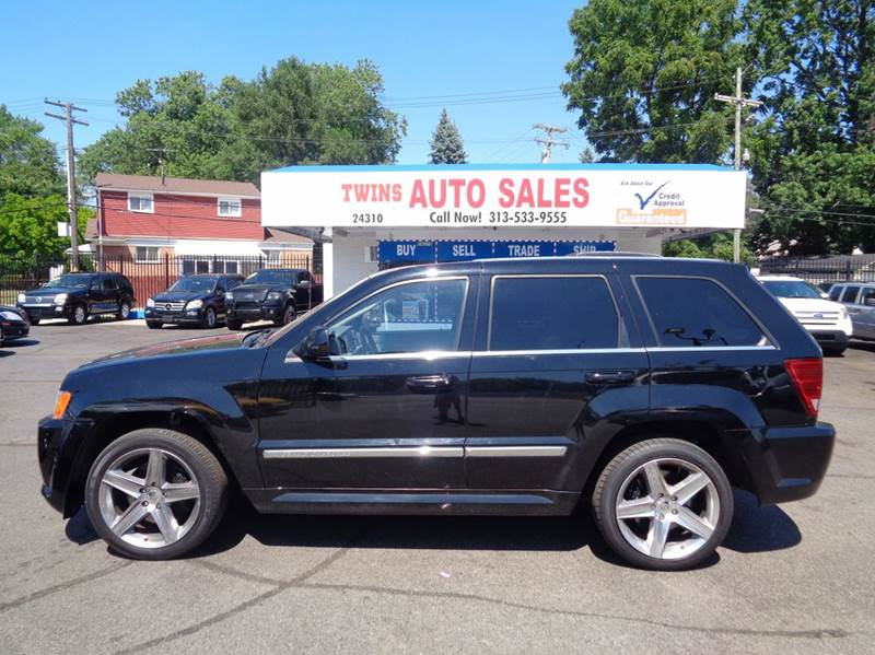 2007 JEEP GRAND CHEROKEE SRT8 4DR SUV 4WD black 2007 jeep grand cherokee srt8 super cleanmust