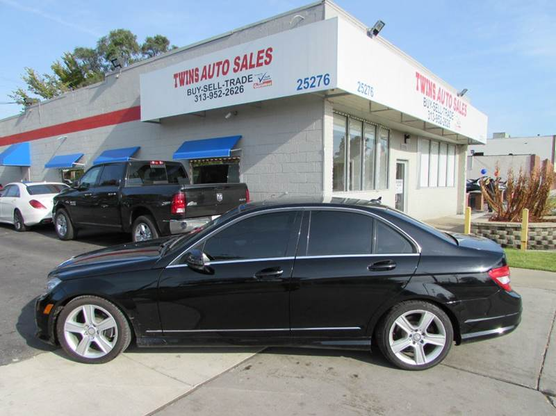 2010 MERCEDES-BENZ C-CLASS C300 SPORT 4MATIC AWD 4DR SEDAN black 2010 mercedes benz c300 4matic s