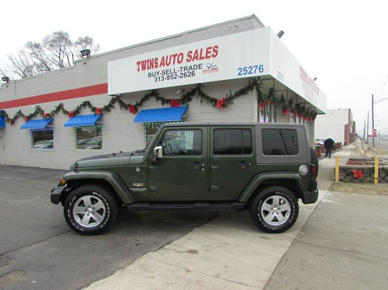 2008 JEEP WRANGLER UNLIMITED SAHARA 4X4 4DR SUV green 2008 jeep wrangler unlimited saharasuper