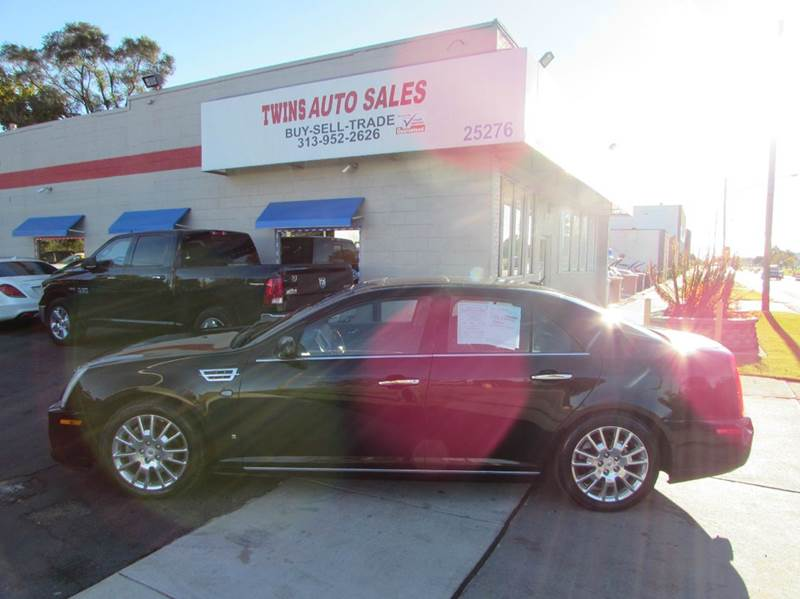 2008 CADILLAC STS V8 AWD 4DR SEDAN W NAVIGATION S black 2008 cadillac sts super cleanmust see