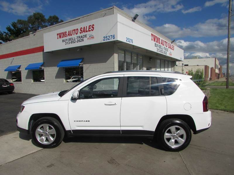 2014 JEEP COMPASS LATITUDE 4DR SUV white 2014 jeep compass latitudesuper cleanmust seewe fin