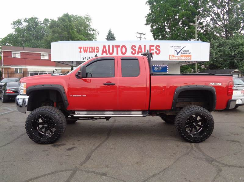 2008 CHEVROLET SILVERADO 2500HD LT1 4WD 4DR EXTENDED CAB LB red 2008 chevrolet silverado 2500su