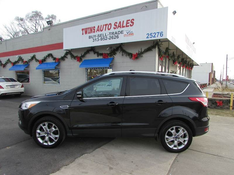 2014 FORD ESCAPE TITANIUM 4DR SUV black 2014 ford escape titaniumlike newlow milesfinancing
