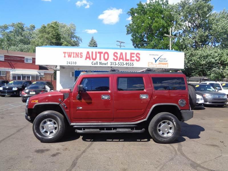 2003 HUMMER H2 BASE 4DR 4WD SUV maroon 2003 hummer h2 super cleanmust seewe finance v8 a