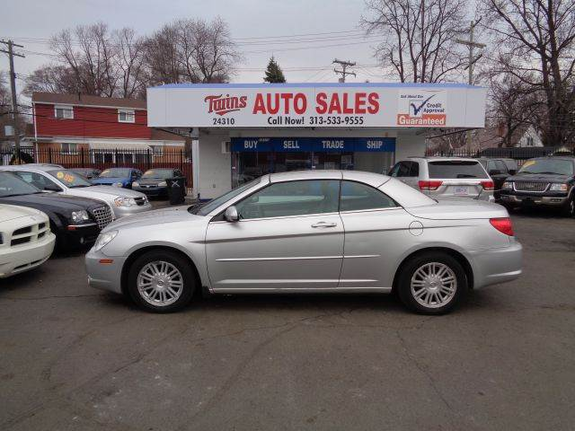 2008 CHRYSLER SEBRING TOURING 2DR CONVERTIBLE sliver 2008 chrysler serbring touring convertible