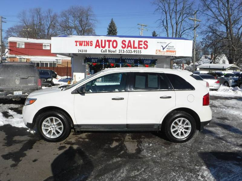 2013 FORD EDGE SE 4DR SUV white 2013 ford edge se super cleanmust seewe finance v6 auto