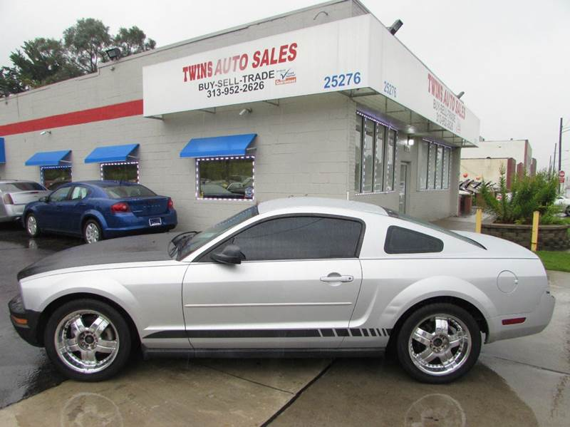 2007 FORD MUSTANG V6 DELUXE 2DR COUPE gray 2007 ford mustang deluxe super cleanmust seewe f