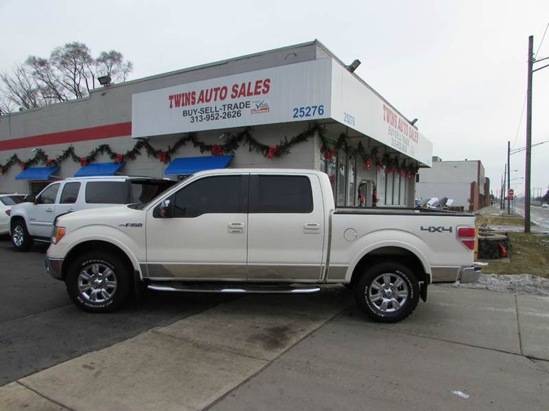 2009 FORD F-150 LARIAT 4X4 4DR SUPERCREW STYLESI white 2009 ford f150 lariat super cleanmust s
