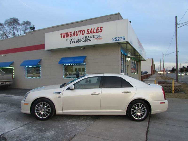 2009 CADILLAC STS V6 AWD 4DR SEDAN white 2009 cadillac sts super cleanmust seewe finance v