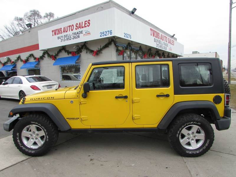 2008 JEEP WRANGLER UNLIMITED RUBICON 4X4 4DR SUV yellow 2008 jeep wrangler unlimited rubicon su