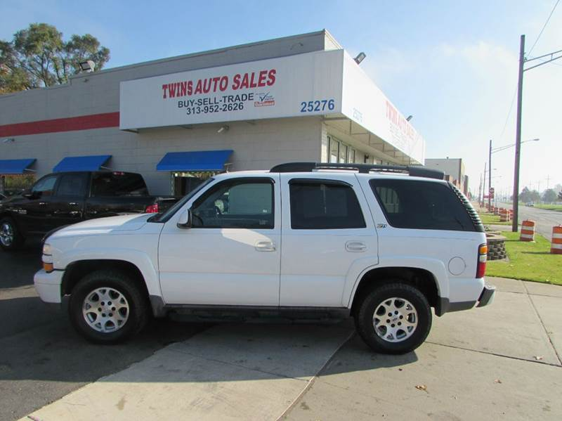 2004 CHEVROLET TAHOE Z71 4WD 4DR SUV white 2004 chevrolet tahoe z71 super cleanmust seewe f
