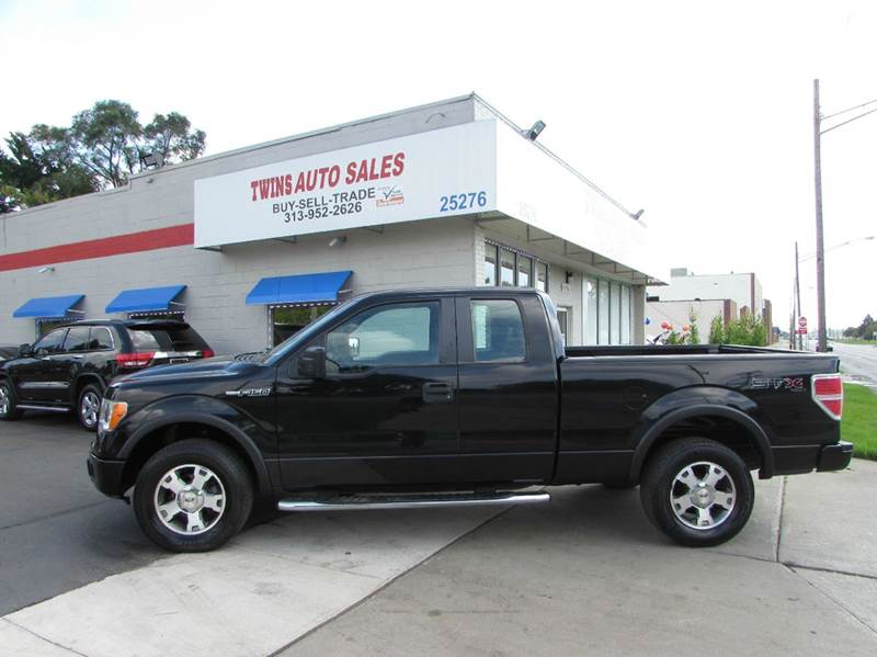 2009 FORD F-150 STX 4X4 4DR SUPERCAB STYLESIDE 5 black 2009 ford f150 stx super cleanmust see