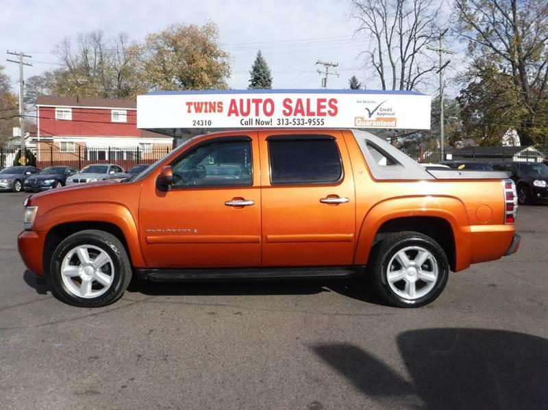 2007 CHEVROLET AVALANCHE LT 1500 4DR CREW CAB 4WD SB orange 2007 chevrolet avalanche 1500 lt sup