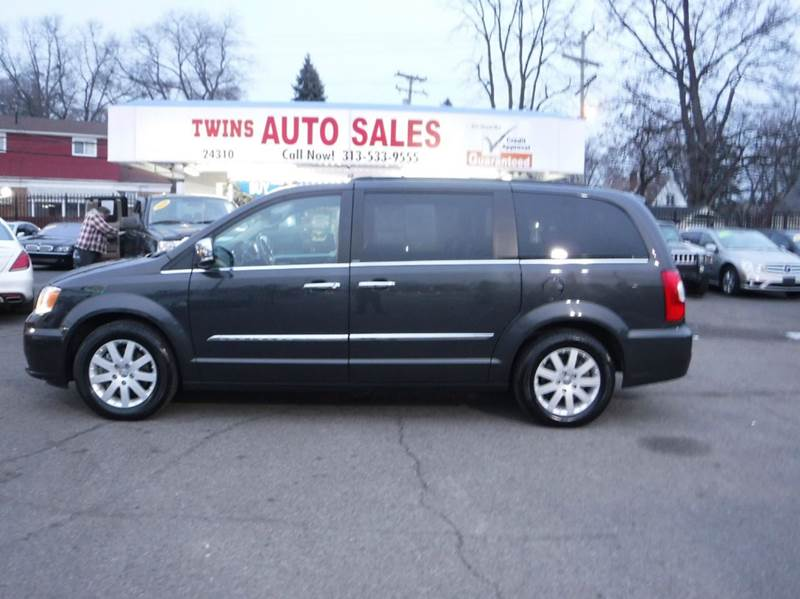 2012 CHRYSLER TOWN AND COUNTRY TOURING-L 4DR MINI VAN gray 2012 chrysler town  country touring l