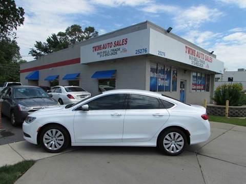 2015 Chrysler 200 for sale in Redford, MI