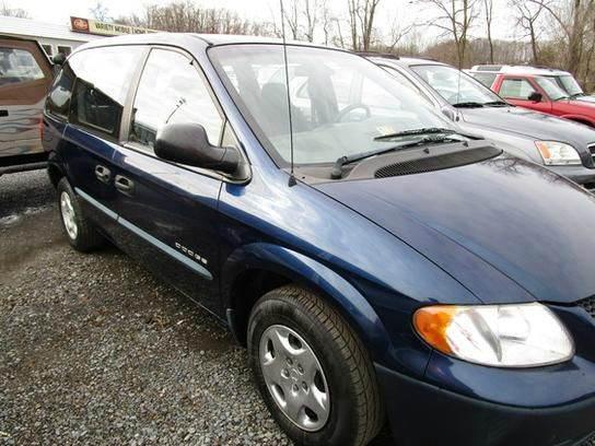 2001 DODGE CARAVAN SE 4DR MINIVAN blue cassette exterior entry lights front air conditioning f