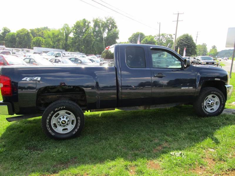 2012 CHEVROLET SILVERADO 2500HD WORK TRUCK 4X4 4DR EXTENDED CAB blue 4wd type - part time abs -