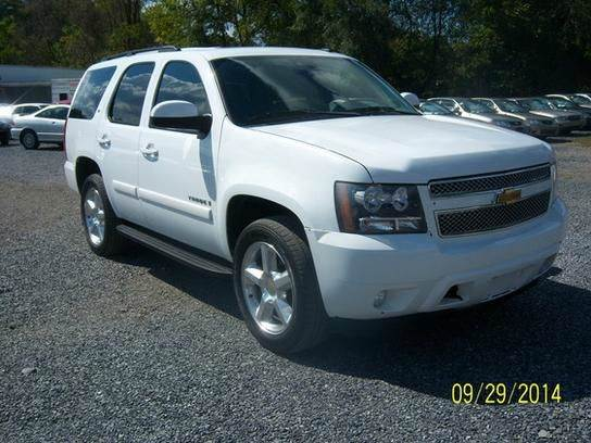 2008 CHEVROLET TAHOE LS 4X4 SUV white abs - 4-wheel airbag deactivation - occupant sensing passe