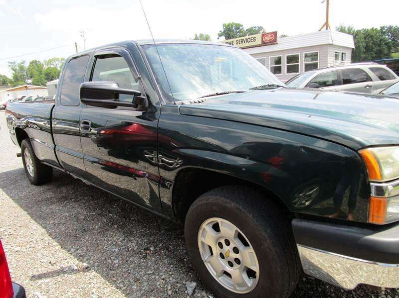 2004 CHEVROLET SILVERADO 1500 WORK TRUCK 4DR EXTENDED CAB 4WD green abs - 4-wheel axle ratio - 3