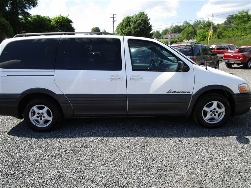 2003 PONTIAC MONTANA VALUE 4DR EXT MINIVAN white captain chairs - 2 child seat - two built-in re