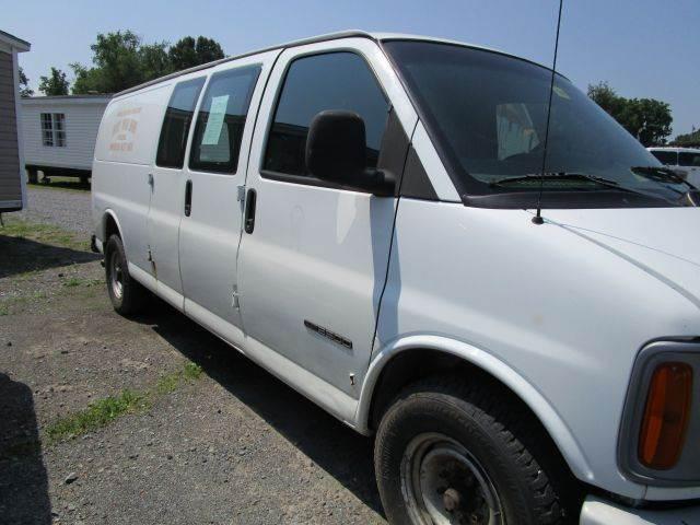 2000 GMC SAVANA CARGO G3500 3DR CARGO VAN EXTENDED white abs - 4-wheel daytime running lights f