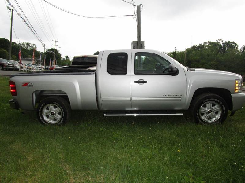 2011 CHEVROLET SILVERADO 1500 LT 4X4 4DR EXTENDED CAB 65 FT silver 4wd selector - electronic hi