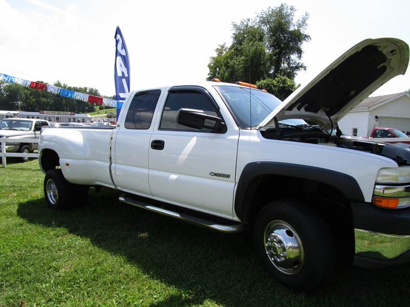 2001 CHEVROLET SILVERADO 3500 BASE 4DR EXTENDED CAB 4WD LB DRW white abs - 4-wheel anti-theft sy