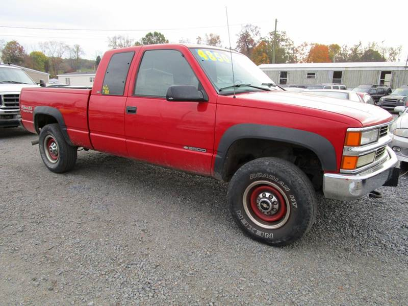 1998 CHEVROLET CK 2500 SERIES K2500 CHEYENNE 2DR 4WD EXTENDED red abs - 4-wheel bumper detail -