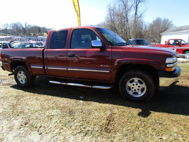 1999 CHEVROLET SILVERADO 1500 LS 3DR 4WD EXTENDED CAB SB maroon abs - 4-wheel anti-theft system