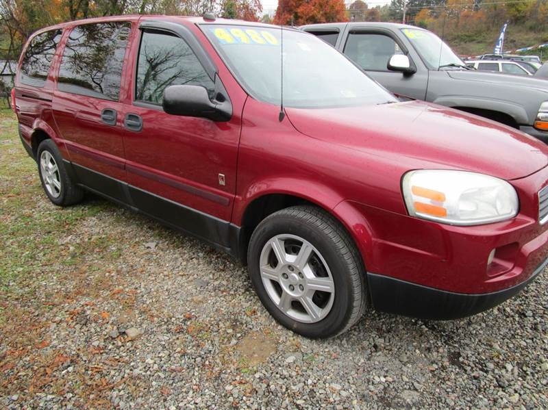 2005 SATURN RELAY 2 4DR MINI VAN red abs - 4-wheel center console - front console with storage