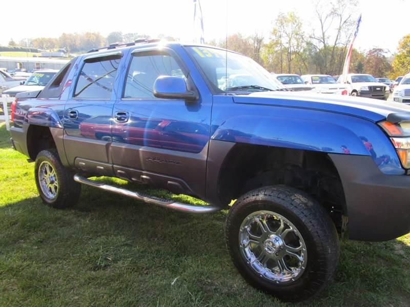 2003 CHEVROLET AVALANCHE 1500 4DR 4WD CREW CAB SB blue abs - 4-wheel air suspension - rear anti
