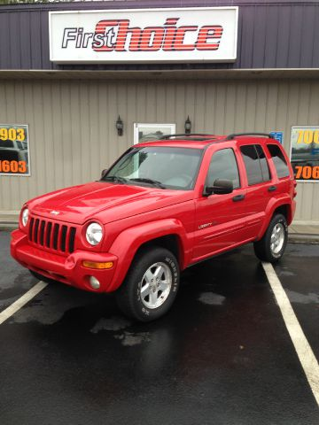 2002 JEEP LIBERTY LIMITED 4DR 4WD SUV red buy here pay here skid platesfront air conditionings