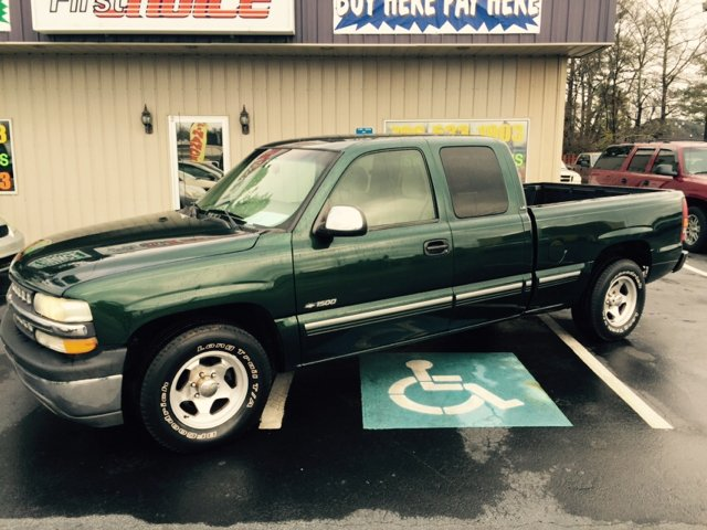 2002 CHEVROLET SILVERADO 1500 LS 4DR EXTENDED CAB 2WD SB green abs - 4-wheel anti-theft system -